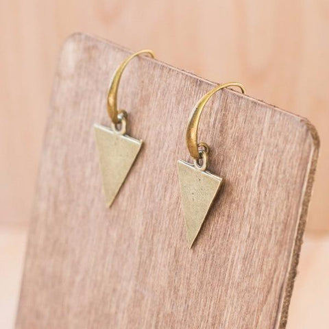 BRUSHED OGEE DROP EARRINGS | SILVER