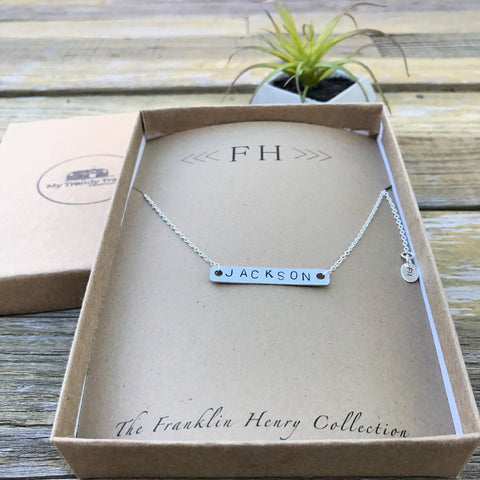 GOLD DOUBLE INITIAL STAMPED NECKLACE