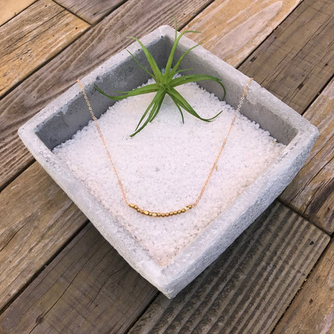 "DRUZY NUGGET | ROSE | SILVER 18"" NECKLACE"