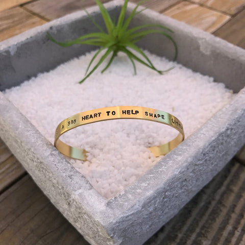 YOUR LOVE HAND STAMPED BANGLE