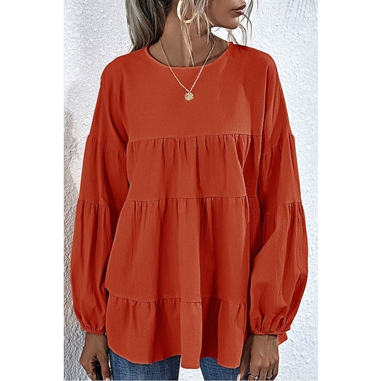 LONG SLEEVE BABYDOLL TOP | ASSORTED COLORS