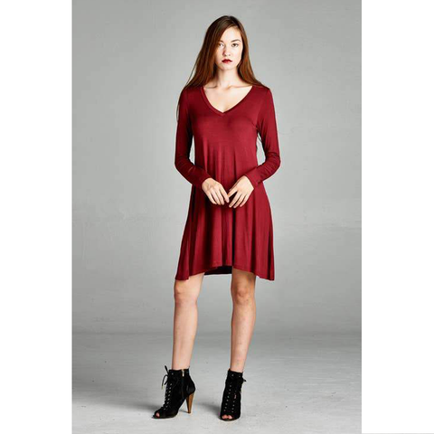 TIERED RUFFLED MINI DRESS | ASSORTED COLORS