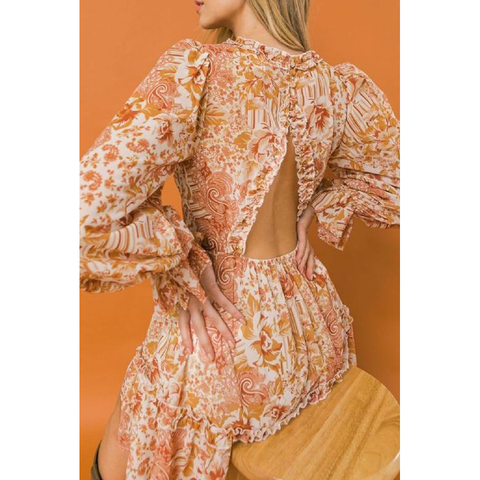 CHEVRON STRIPED MIDI-DRESS