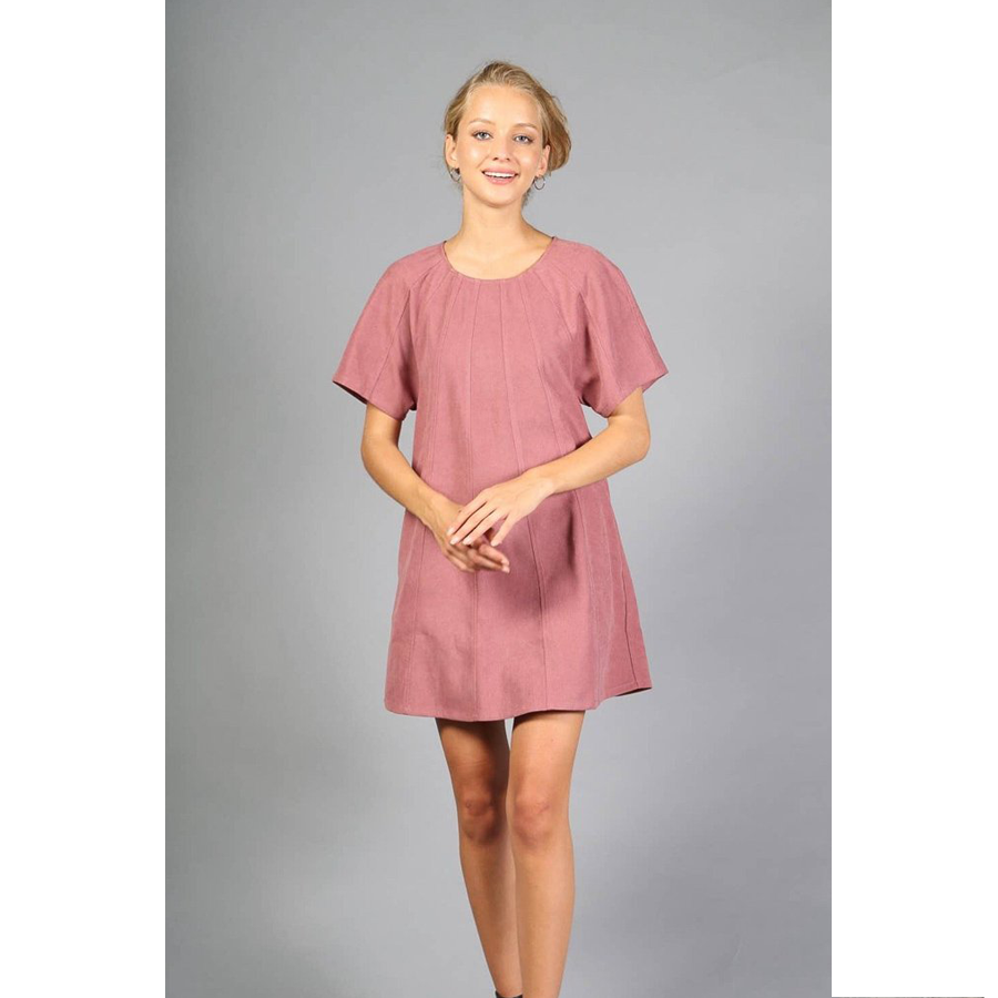SCOOP NECK CORDUROY MINI DRESS | ASSORTED COLORS