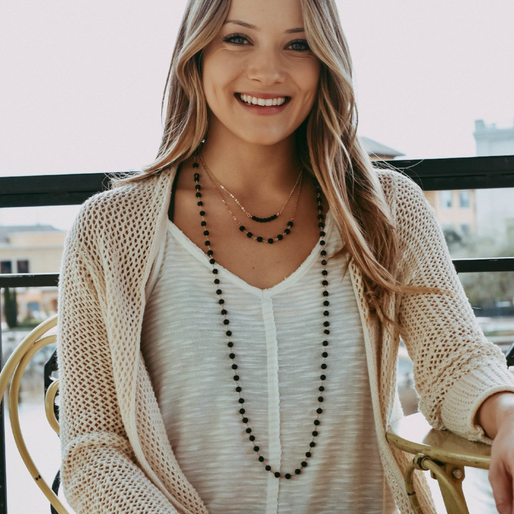 BOHO BEADED NECKLACE | LAVA & GOLD
