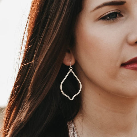 SMALL TWISTED DROP EARRINGS | STERLING SILVER