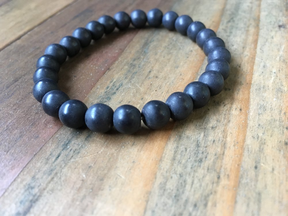 HOWLITE STONE BRACELET | MIDNIGHT | 8MM | MENS