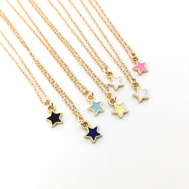 MINI STAR NECKLACES | GOLD | COLOR OPTIONS