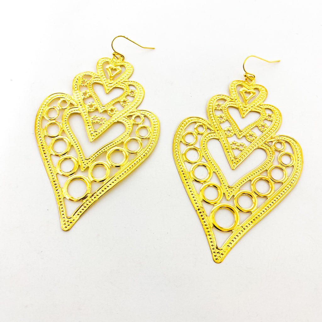 QUEEN OF HEARTS EARRINGS | GOLD & SILVER