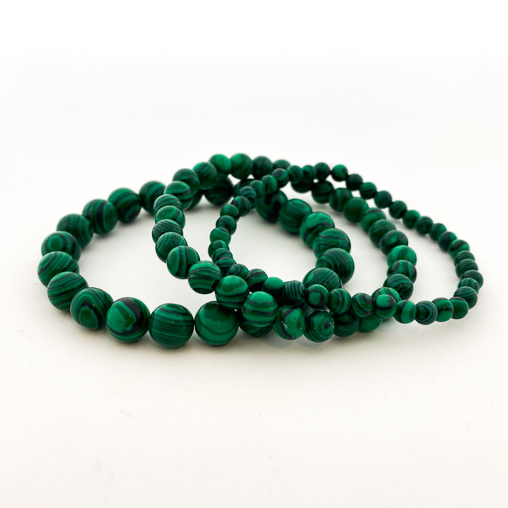 MALACHITE RESIN BRACELETS | SIZE OPTIONS