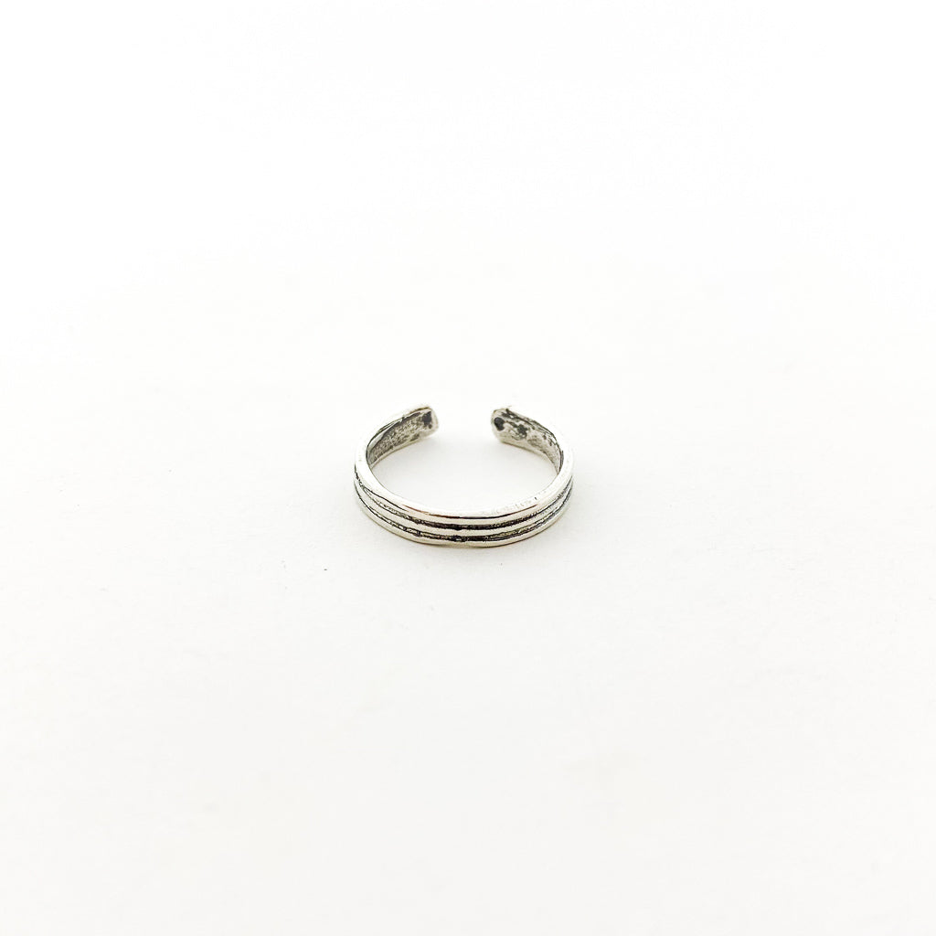 THREE STRAND TOE RING | STERLING SILVER