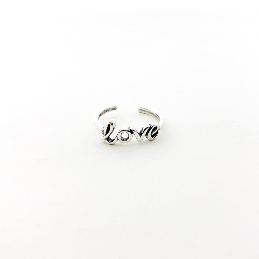 LOVE TOE RING | STERLING SILVER