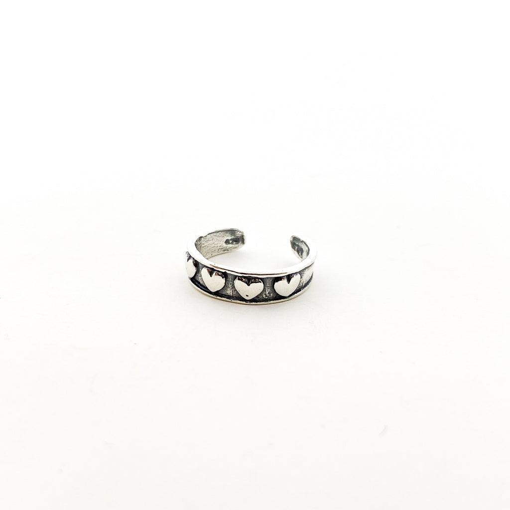 LITTLE HEARTS TOE RING | STERLING SILVER