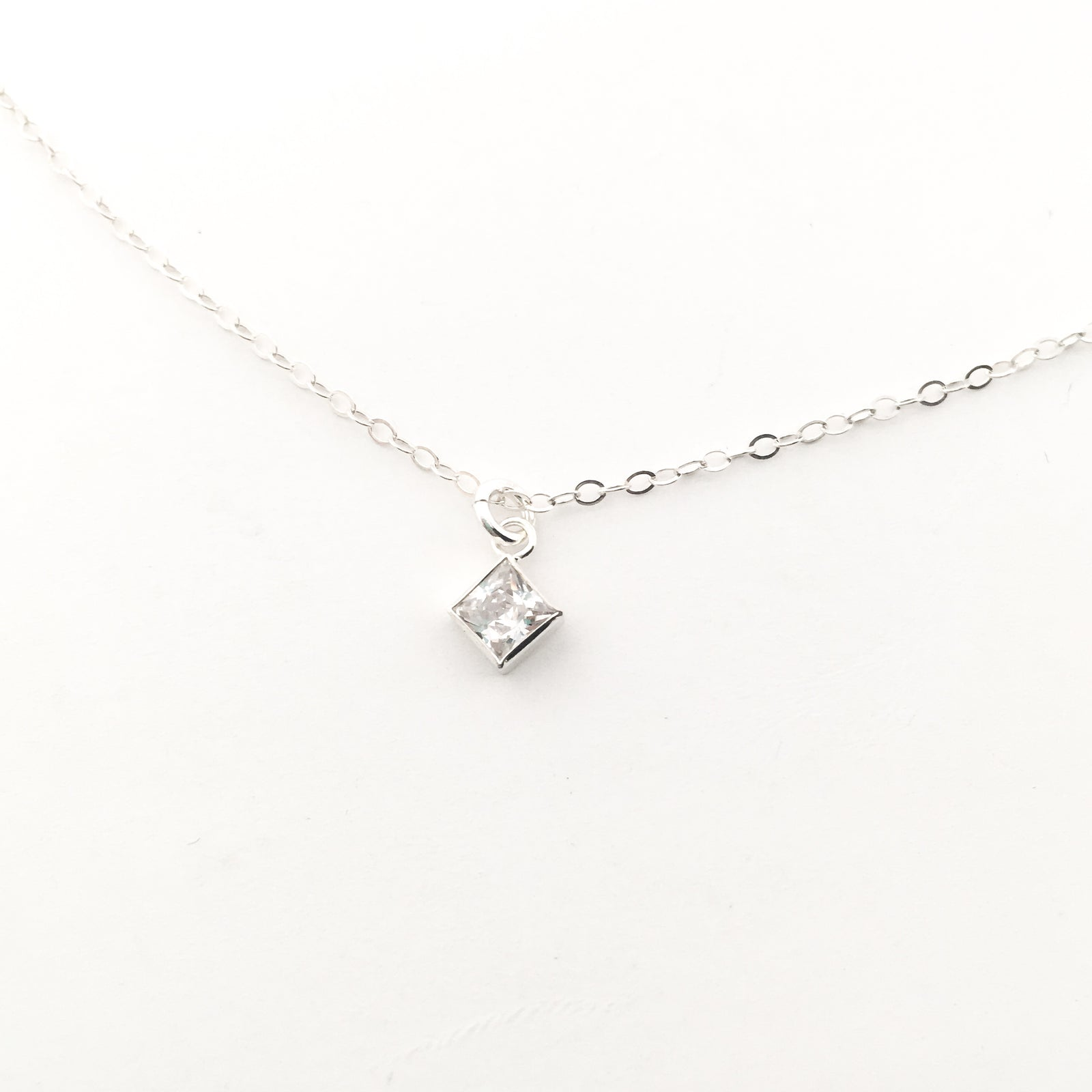 HANGING CUBIC ZIRCONIA NECKLACES | STERLING SILVER | STYLE OPTIONS