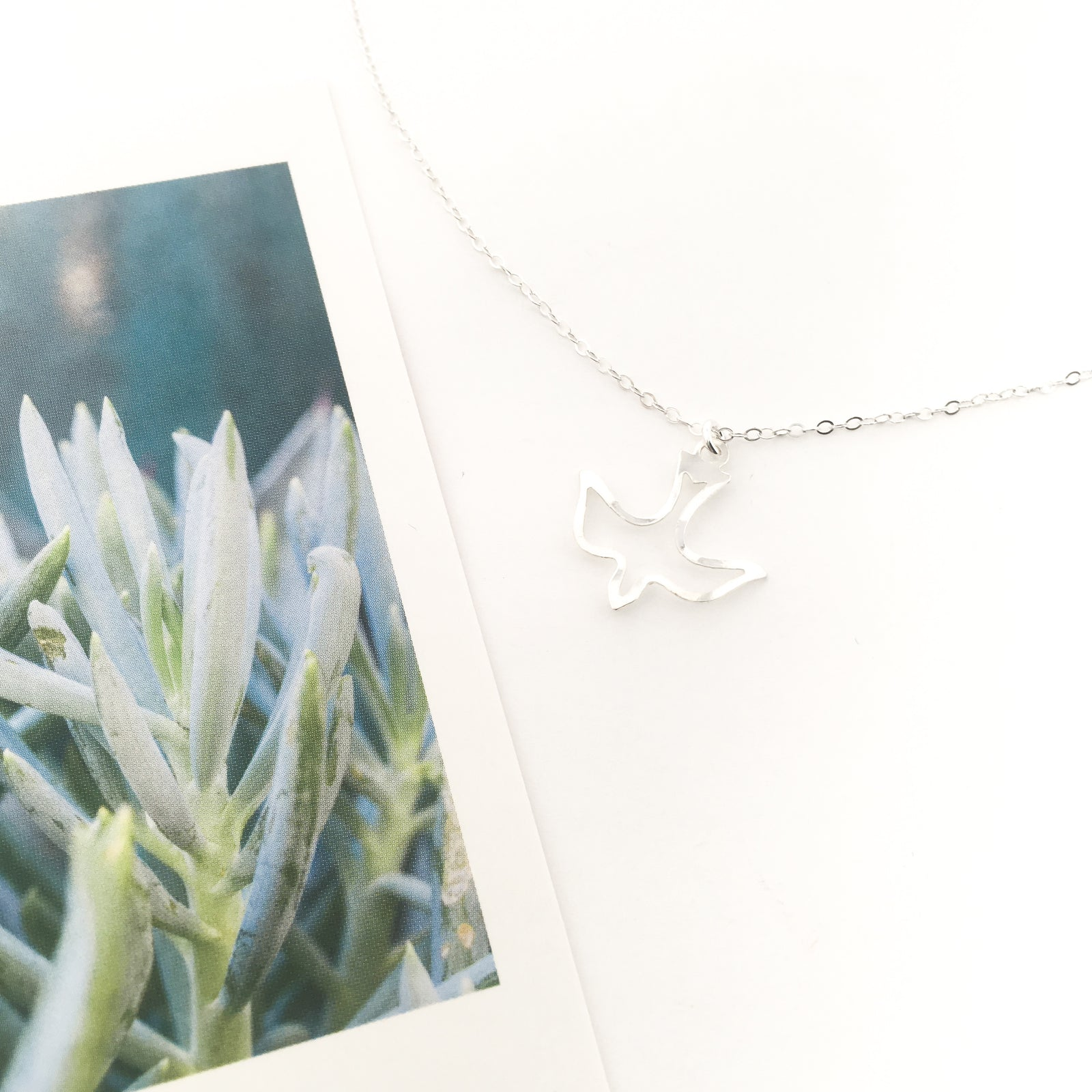 OPEN DOVE NECKLACE | STERLING SILVER
