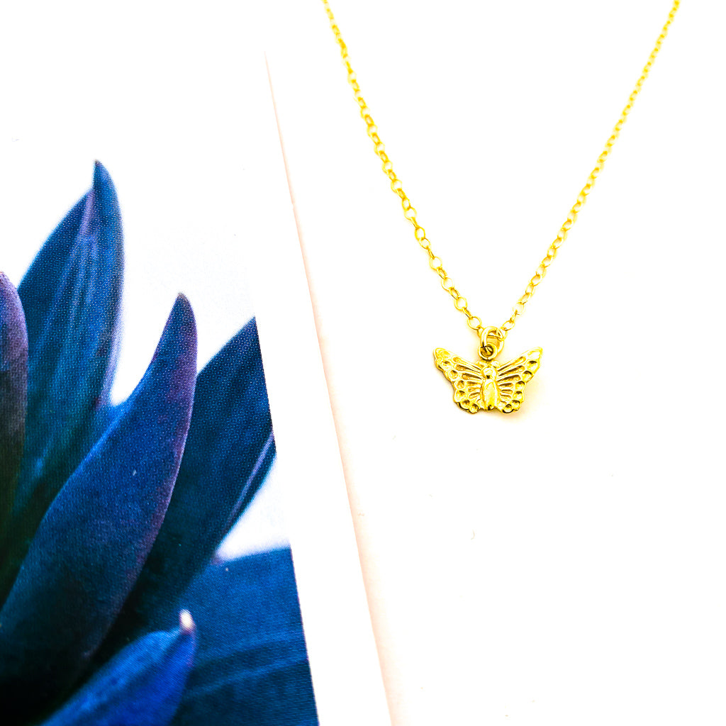 BUTTERFLY NECKLACE | 14K GOLD-FILLED