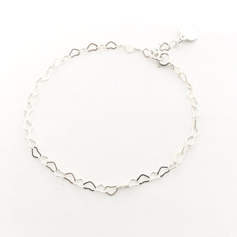 STERLING SILVER SATELLITE CHAIN ANKLET