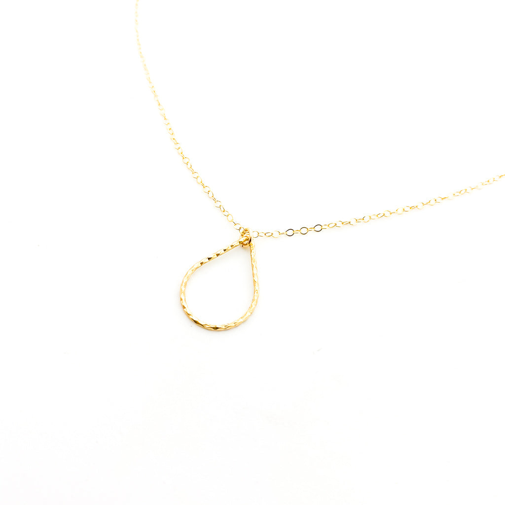 14K GOLD-FILLED TWISTED DROP NECKLACE | STYLE OPTIONS