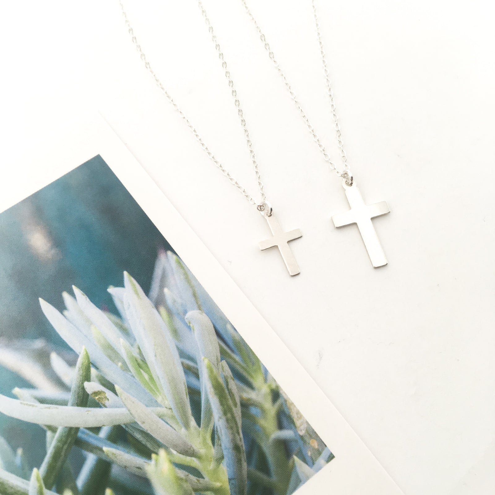 STERLING SILVER CROSS NECKLACES | SIZE OPTIONS