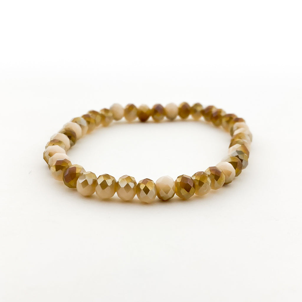 CRYSTAL BRACELETS | 6MM | GOLD COLLECTION