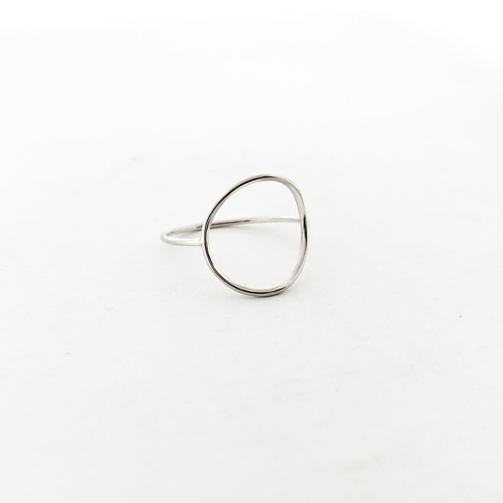 LARGE CIRCLE RING | STERLING SILVER | SIZE OPTIONS