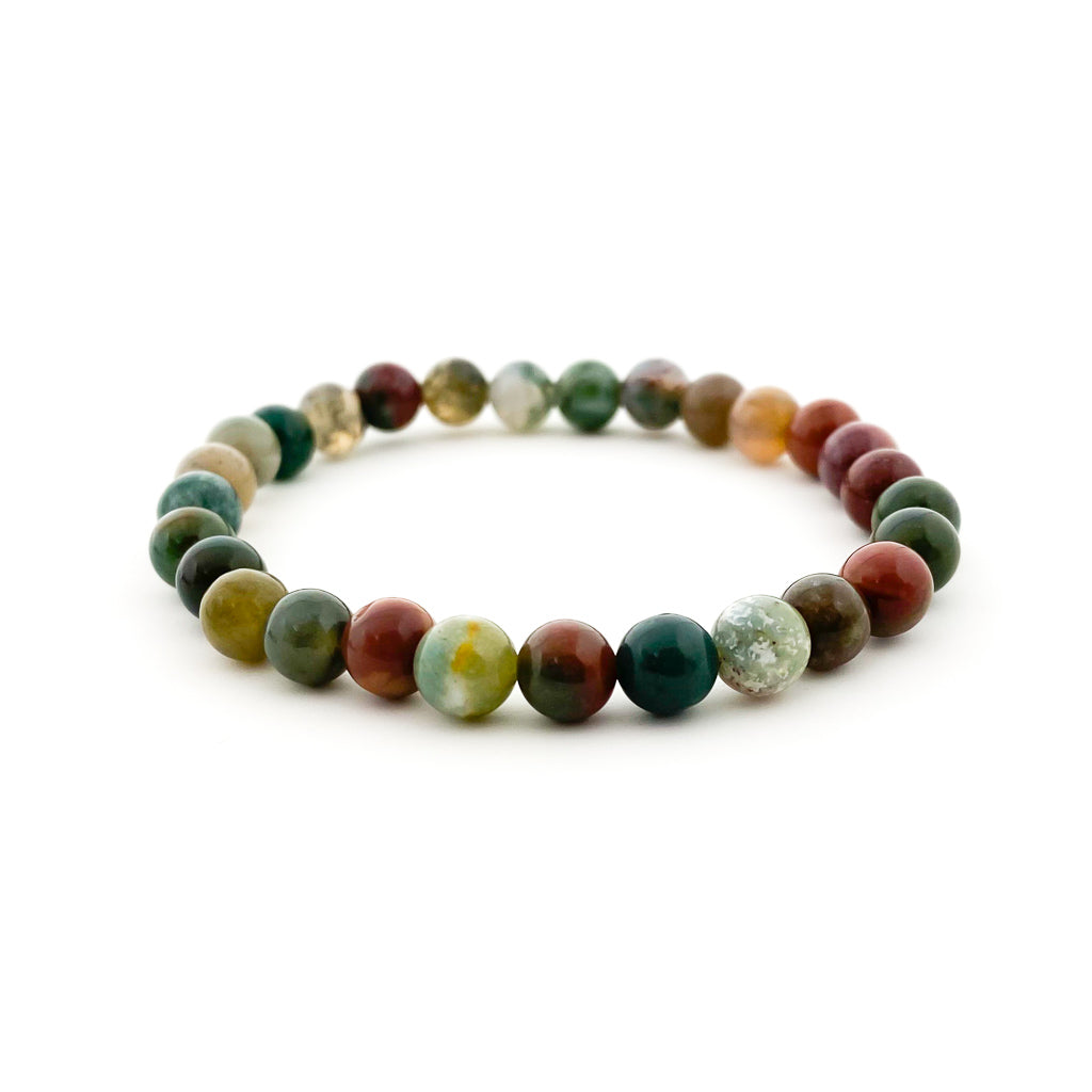 MENS FANCY JASPER STONE BRACELET | SIZE OPTIONS
