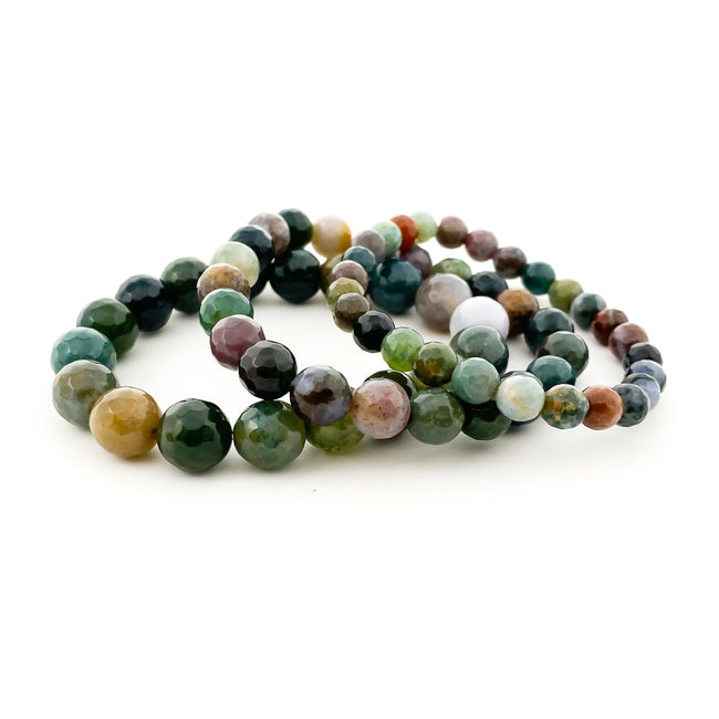 FACETED FANCY JASPER STONE BRACELET | SIZE OPTIONS