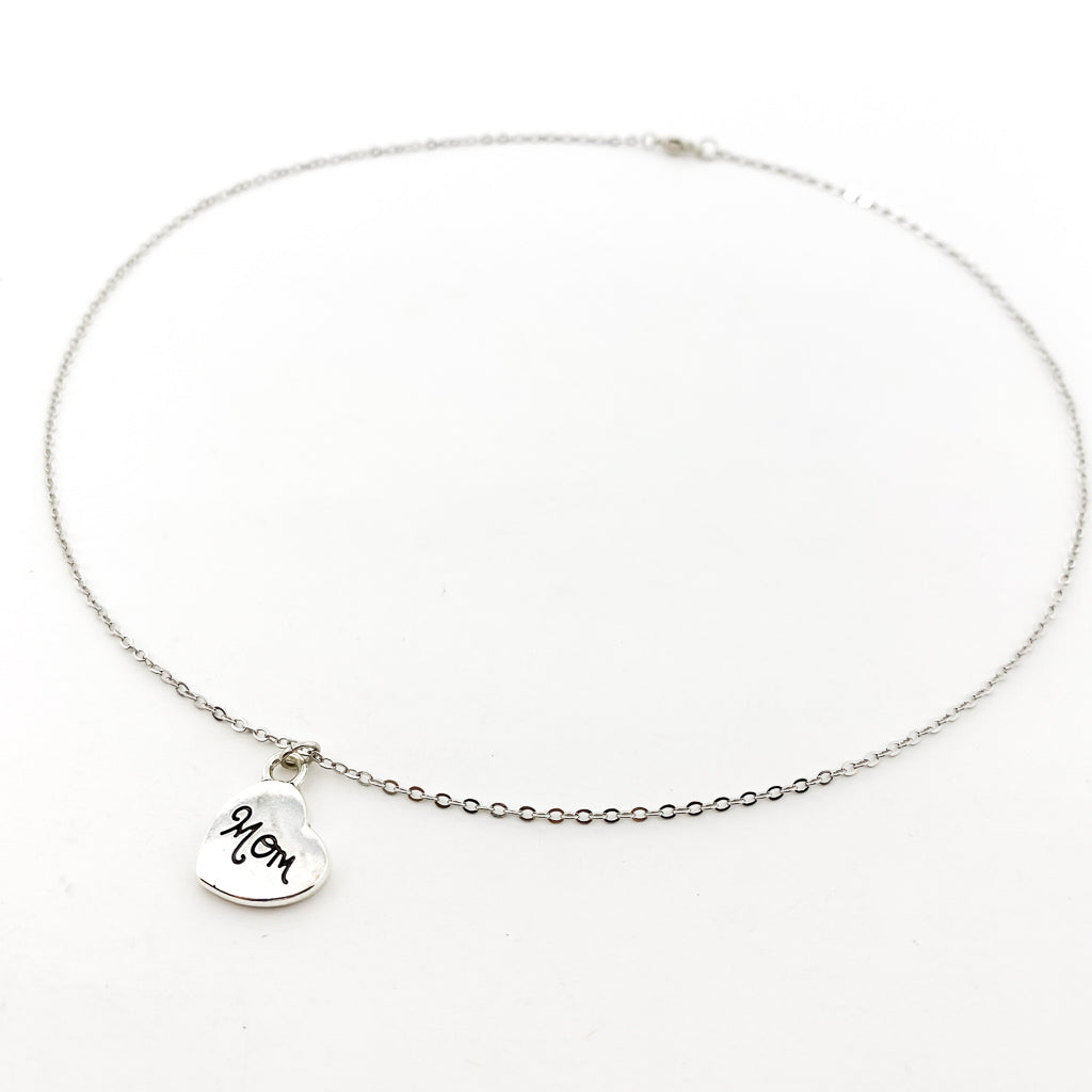 LOVED MOM NECKLACE | SILVER
