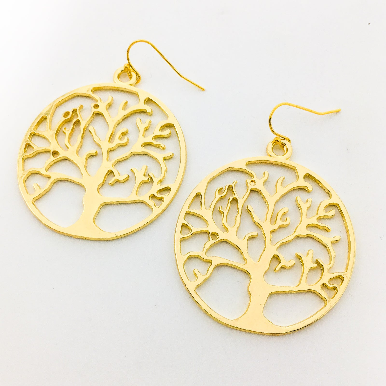 LARGE TREE EARRINGS | GOLD