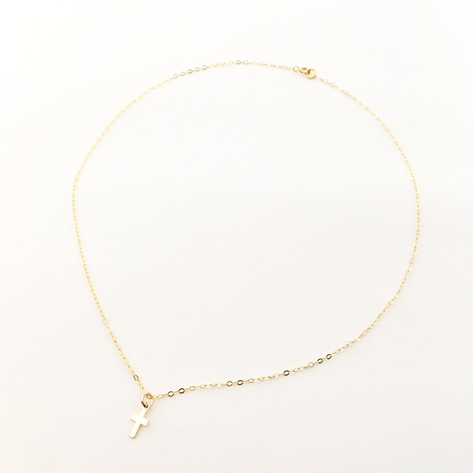 DAINTY CROSS NECKLACE | 14K GOLD-FILLED