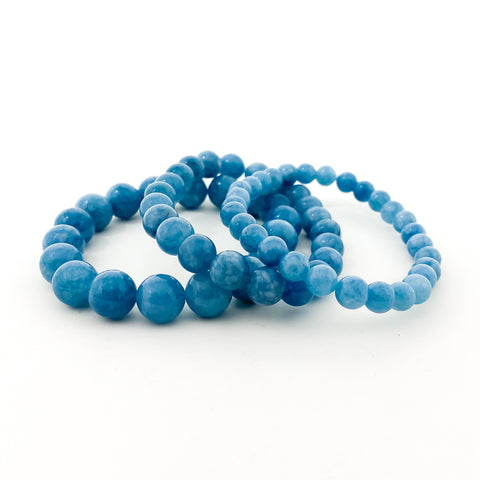 FACETED AGATE STONE BRACELETS | 6MM | COLOR OPTIONS