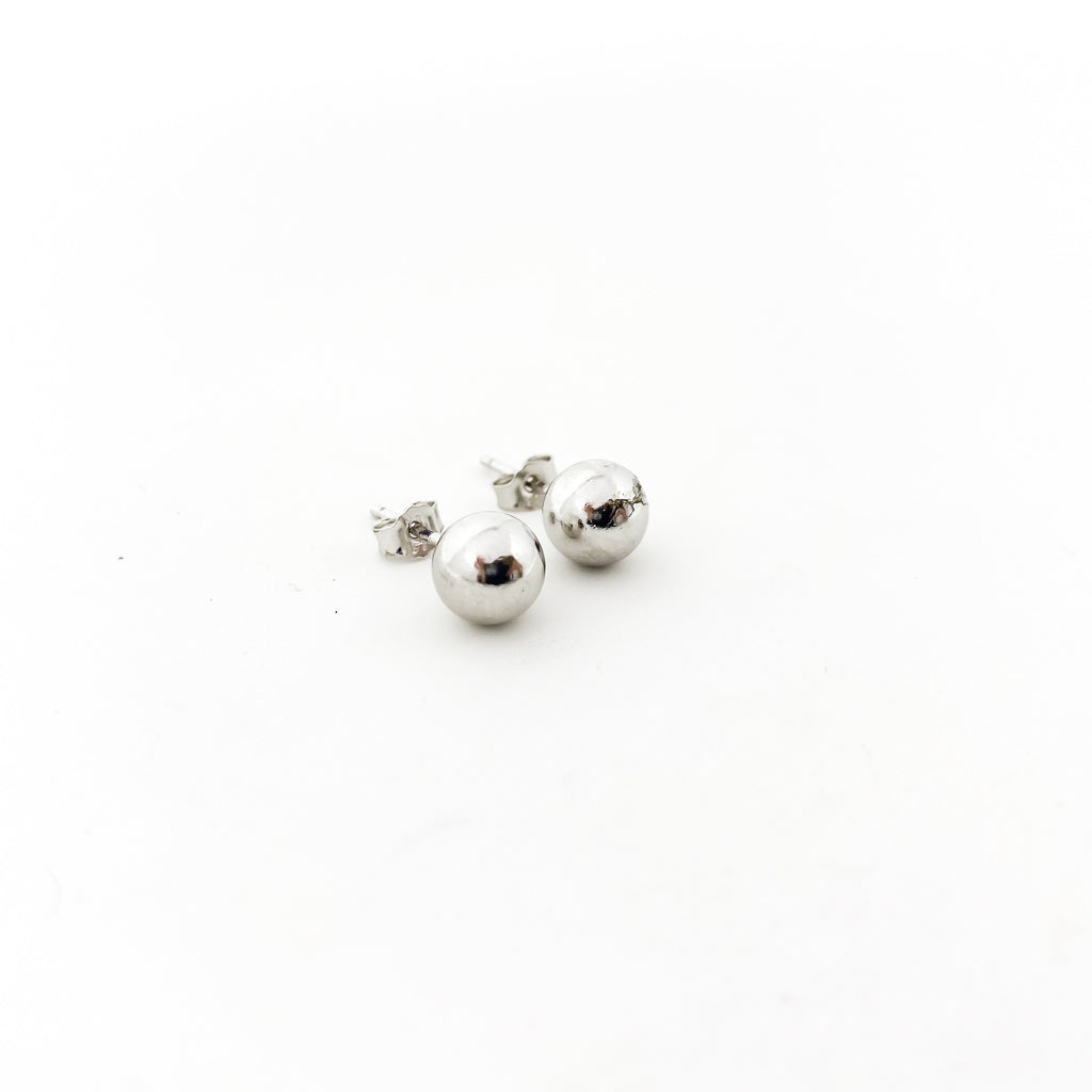 SPHERE STUD EARRINGS | STERLING SILVER