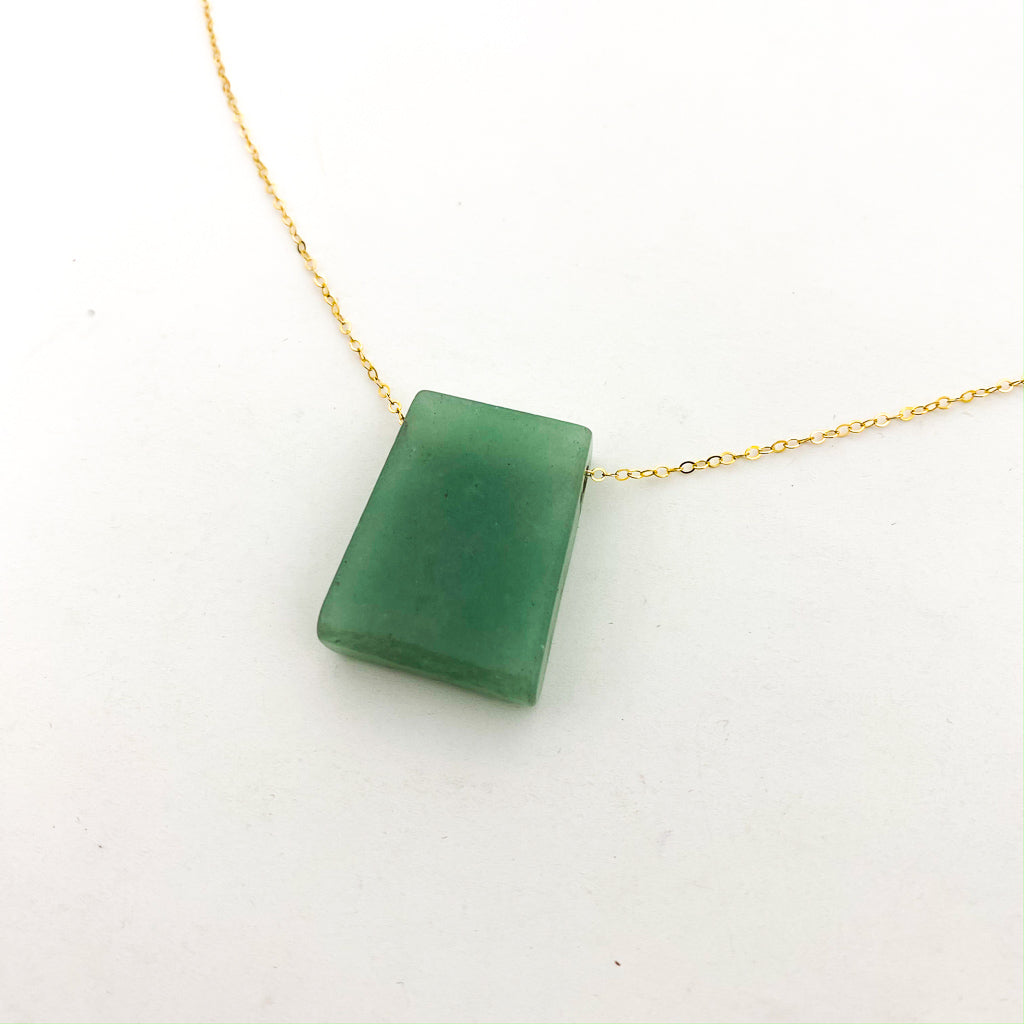 TRAPEZOID STONE NECKLACES | 14K GOLD-FILLED | STYLE OPTIONS