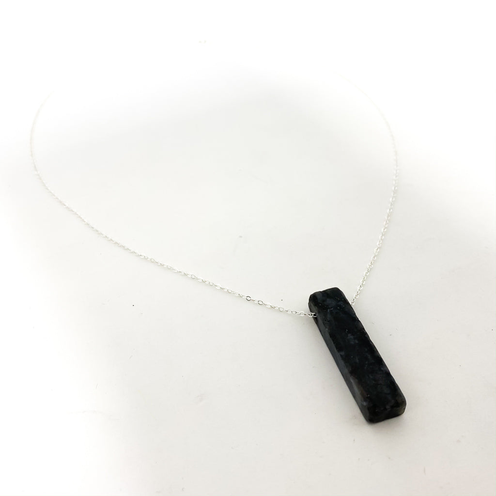 LONG PILLAR STONE NECKLACES | STERLING SILVER | STYLE OPTIONS