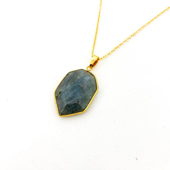 JUNIPER AGAT DROP PENDANT NECKLACE