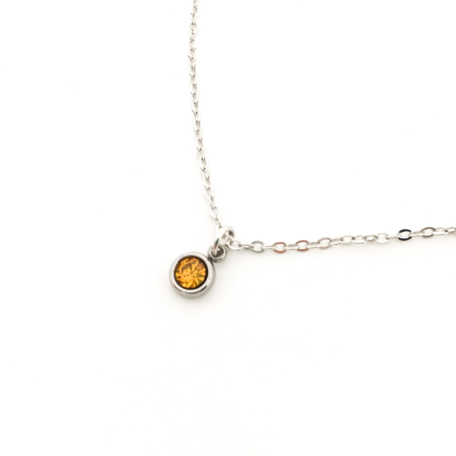 DAINTY BIRTHSTONE NECKLACES | SILVER | COLOR OPTIONS