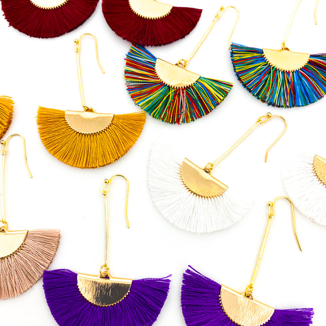 TASSEL FAN EARRINGS | STYLE OPTIONS