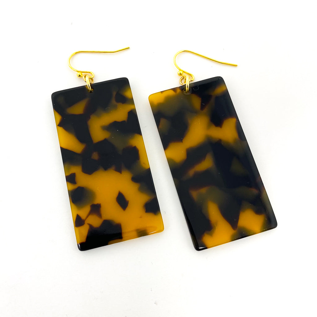RESIN RECTANGLE EARRINGS | COLOR OPTIONS