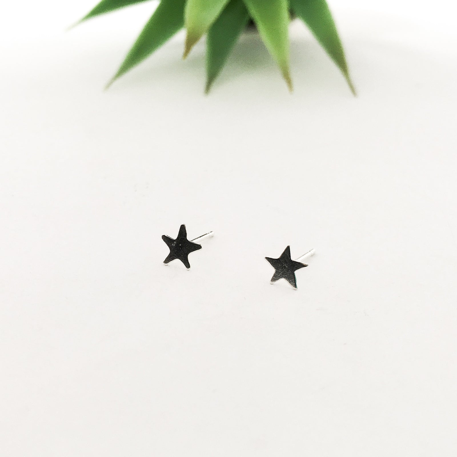 MINI STAR STUD EARRINGS | STERLING SILVER