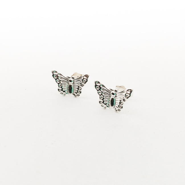 BUTTERFLY STUD EARRINGS | STERLING SILVER