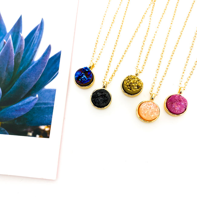 TINY DRUZY NECKLACES | GOLD | STYLE OPTIONS