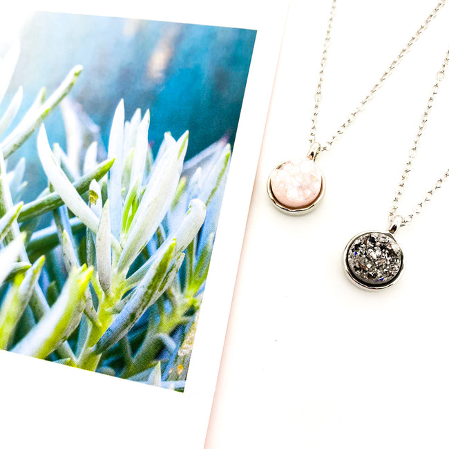 TINY DRUZY NECKLACES | SILVER | STYLE OPTIONS