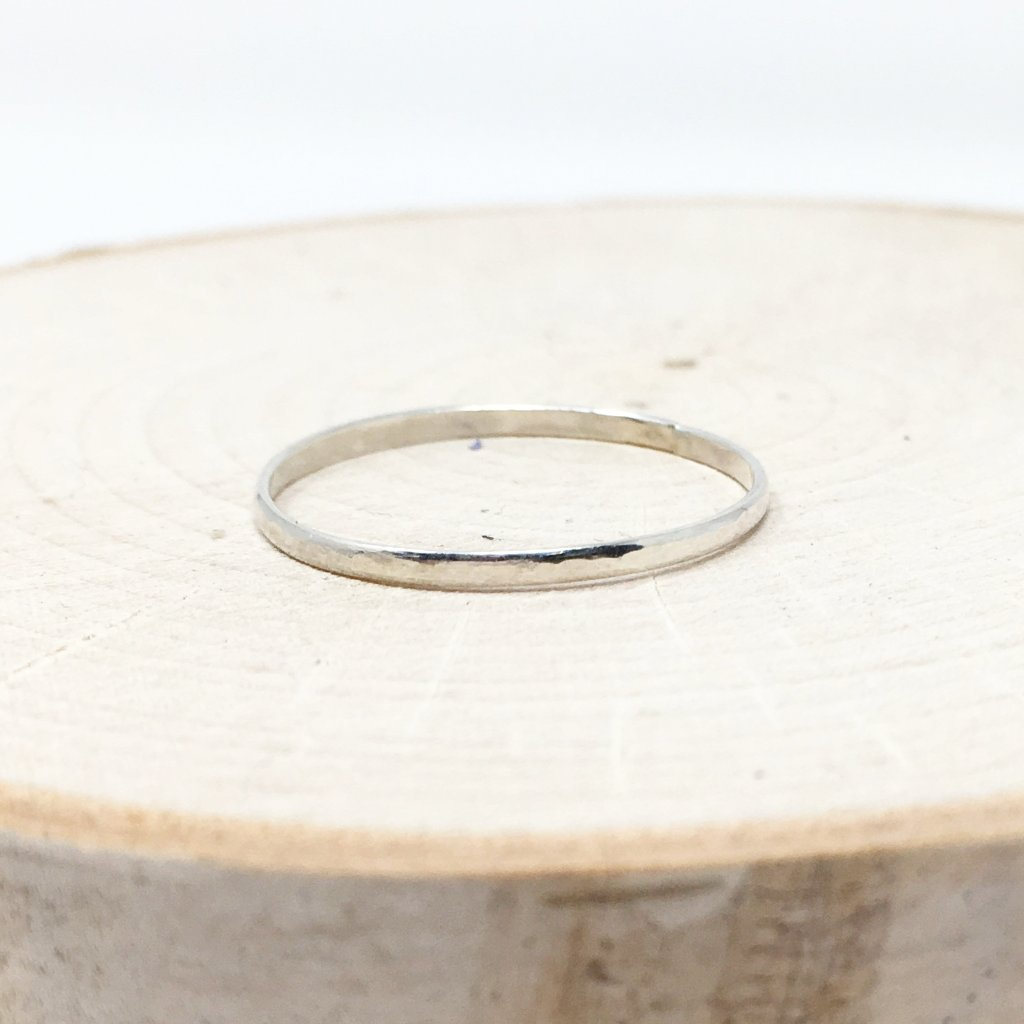 IMPRESSION STACKING RINGS | STERLING SILVER