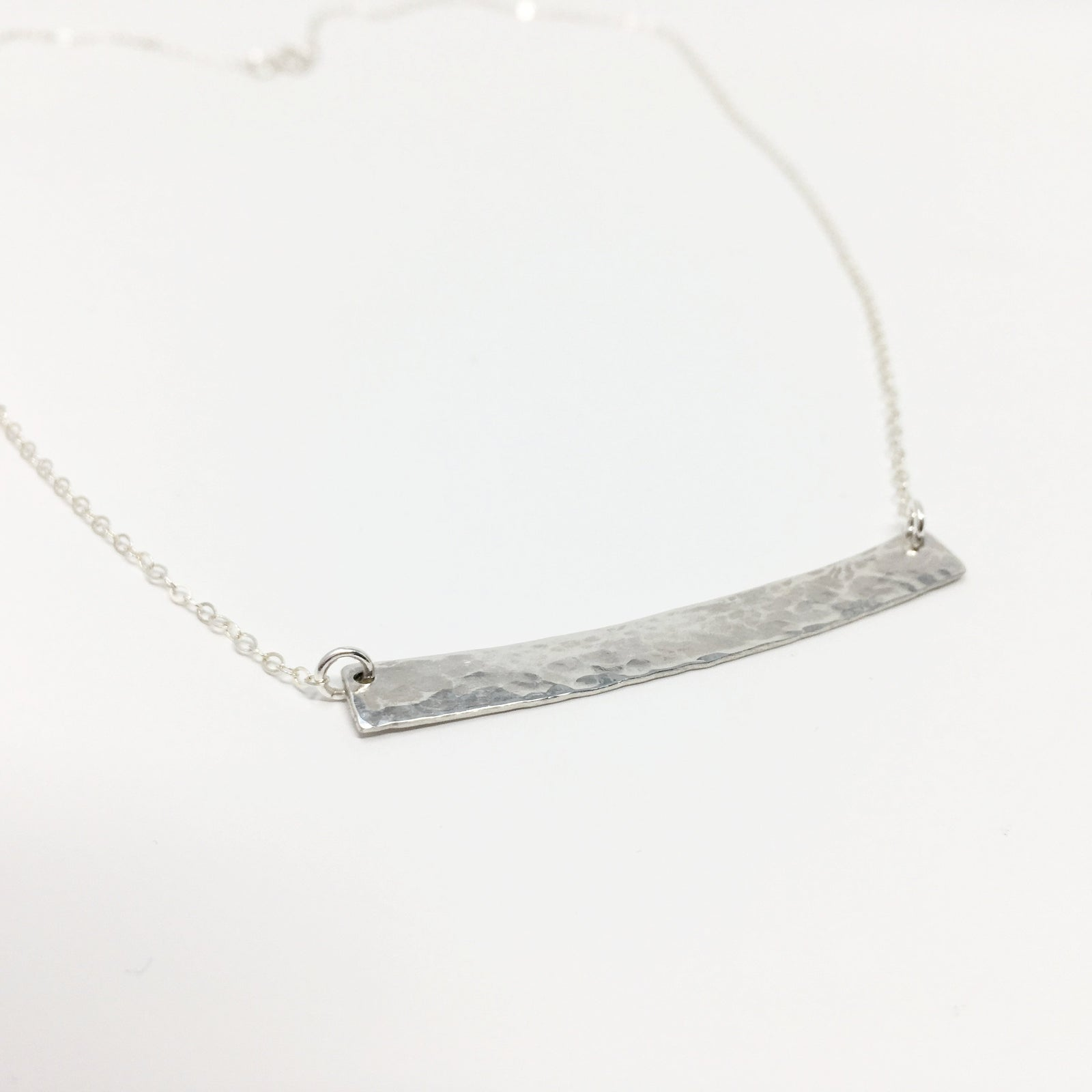 IMPRESSIONS BAR NECKLACE | STERLING SILVER