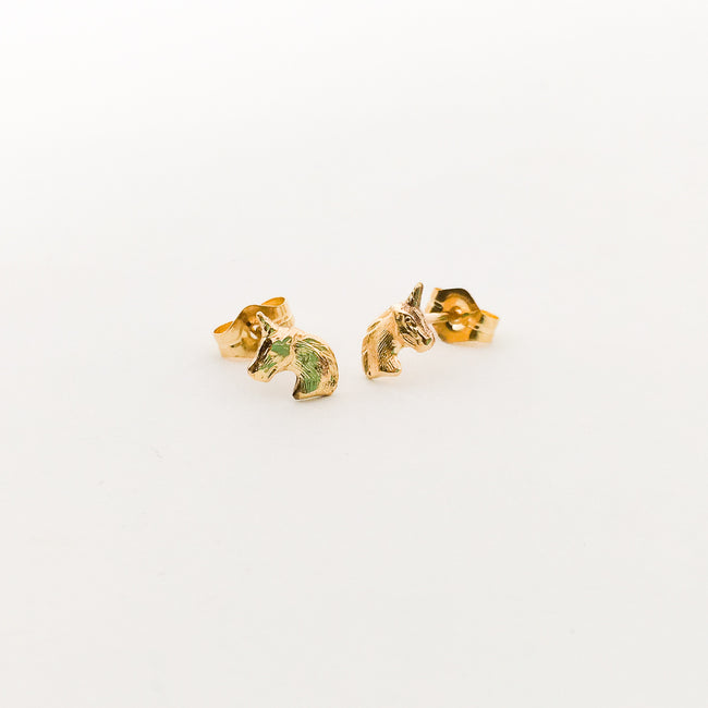UNICORN STUD EARRINGS | 14K GOLD-FILLED