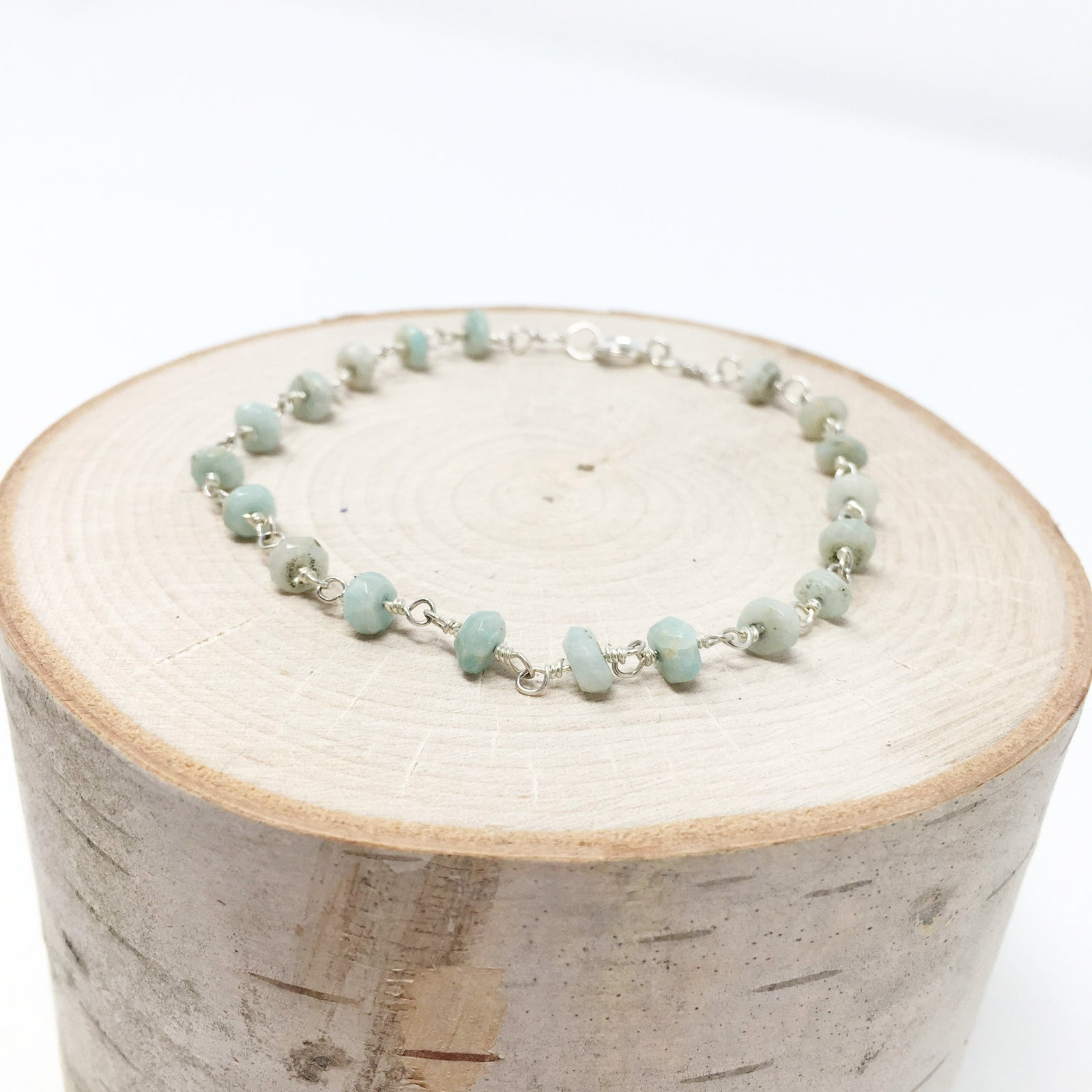 DARLING BEADED CHAIN BRACELET | AMAZONITE