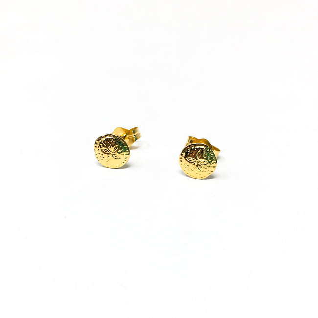 MINI SANDDOLLAR STUD EARRINGS | 14K GOLD-FILLED