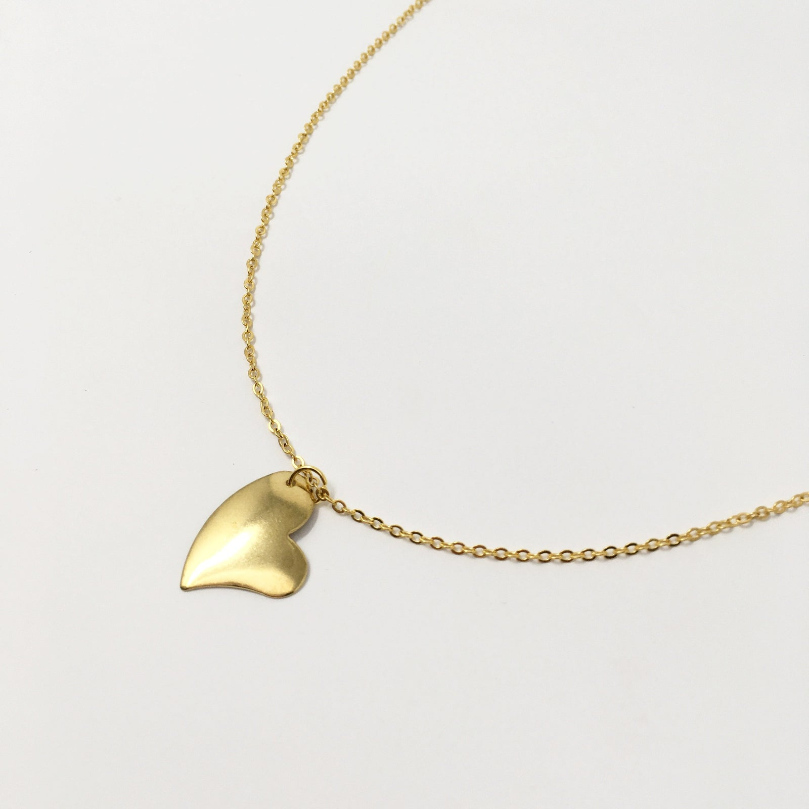 HOPEFUL HEART GOLD NECKLACE