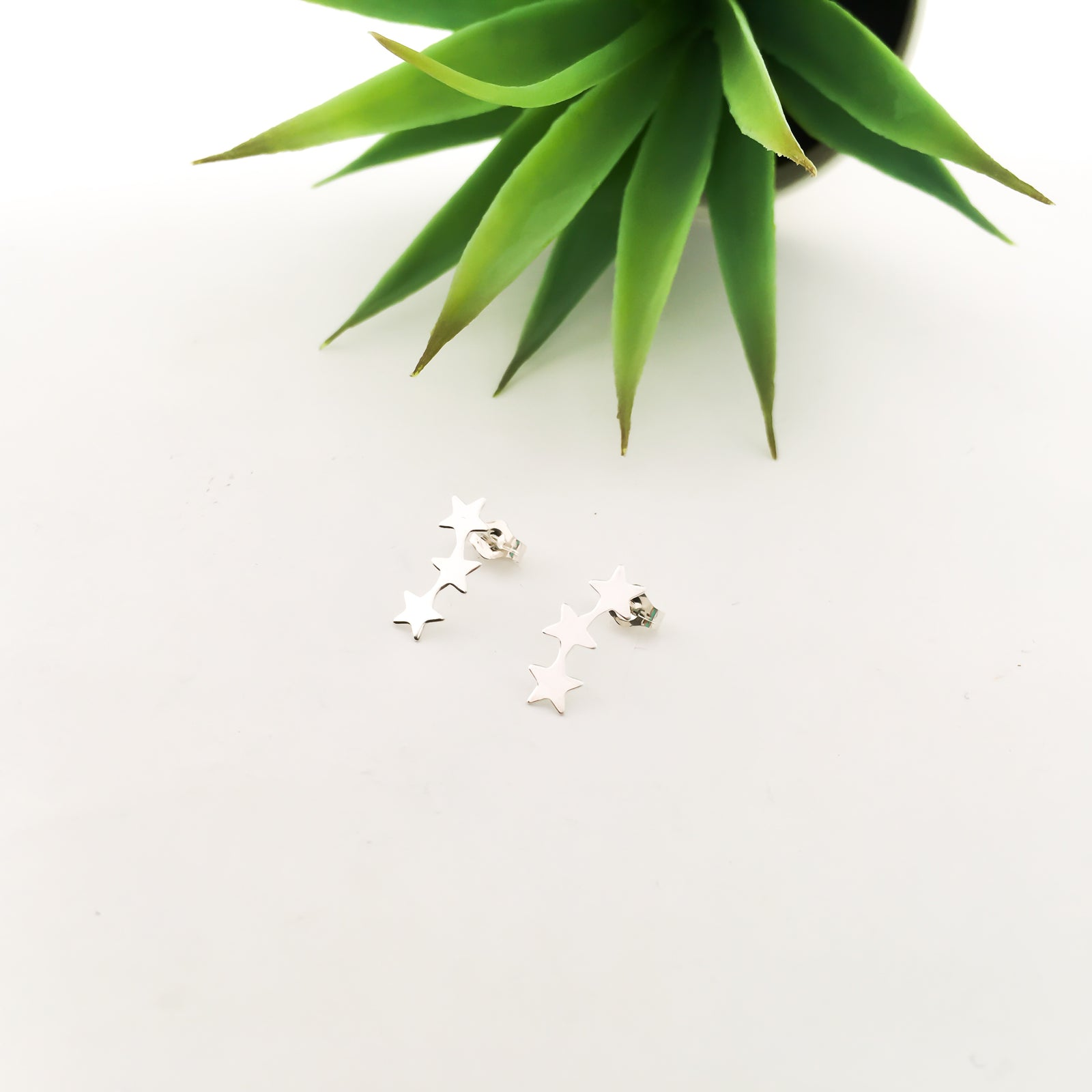 TRIPLE STAR STUD EARRINGS | STERLING SILVER