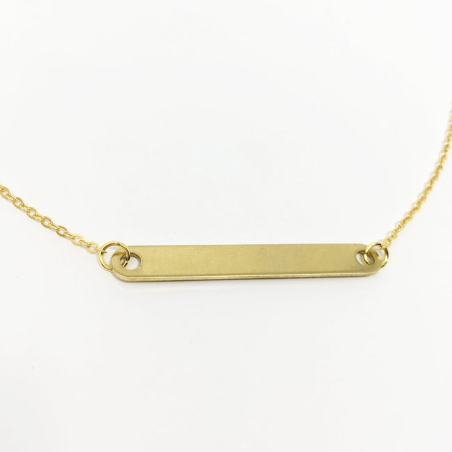 "ROUNDED GOLD BAR NECKLACE | 1.5"" BAR"